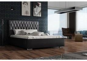 Dizajnová posteľ 120x200 SIRENA - čierna / čierna