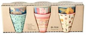 rice Melamínové poháriky Believe in Red Lipstick - 6 ks