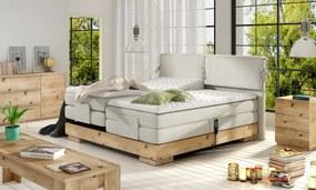 Luxusní box spring postel Valle 180x200 Potah WSL : Potah Flocková látka Focus 03 béžová