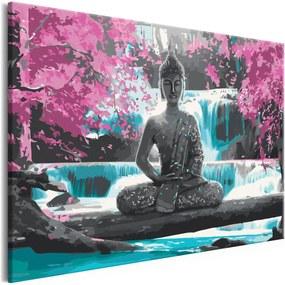 Murando DeLuxe Buddha u vodopádu(60x40 cm)