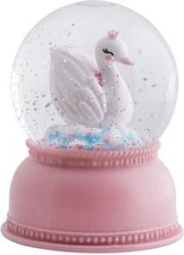 lovel.sk Lampička snehová guľa labuť