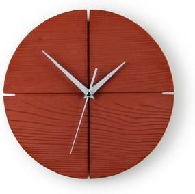 Gakobe Designové nástenné betónové hodiny CIRCLE S Tu si vyber farbu hodín -DVOJKLIK NA FARBU-: Červená, Tu si vyber farbu ručičiek              -DVOJKLIK NA FARBU-: Biele