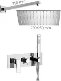 Alpi Una - Sprchový systém pod omietku UNA komplet – páková batéria, chróm ALUN SWK 18L1863, chróm