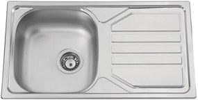Sinks nerezový drez Okio 780 V leštený