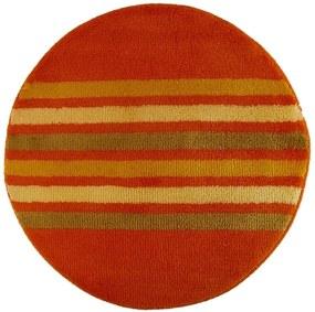 ROUTNER Kúpeľňová predložka RAGUSA Oranžová 10204 - Oranžová / Kruh Ø 90 cm 10204