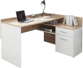Sconto Písací stôl CHILLE dub artisan/matná biela