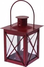 Lampáš na čajovú sviečku 10x14cm, červený