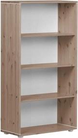 Hnedá detská knižnica z borovicového dreva Flexa Classic, výška 133 cm