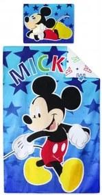 Setino - Bavlnené obliečky do detskej postieľky Mickey Mouse (Disney), 90 x 140 cm + 40 x 55 cm