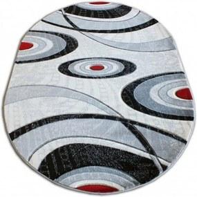 Kusový koberec Basil sivý ovál, Velikosti 160x220cm