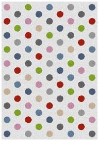 Koberec Universal Norge White Dots, 80 × 150 cm