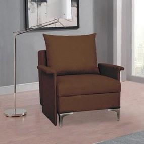 Rozkladacie multifunkčné kreslo + posteľ BARON – hnedá farba