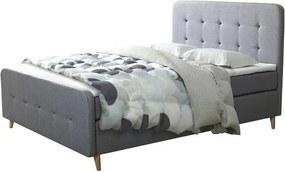 Sconto Posteľ s roštom a matracom SCANDIC sivá, 180x200 cm