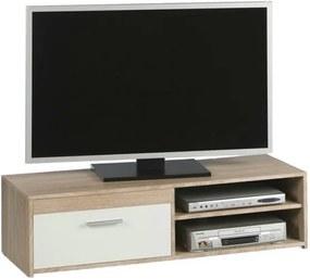 Sconto TV stolík GEMMA dub sonoma/biela