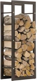 Stojan na palivové drevo Keri 25x40x100, čierny matný