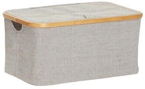 Hübsch Textilný úložný box Bamboo frame - väčší