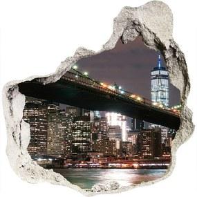 Fototapeta diera na stenu Manhattan New York WallHole-75x75-piask-112427472