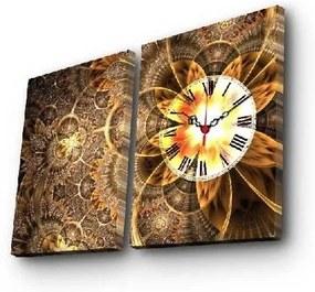 Nástenné obrazové hodiny Clock, 60 × 38 cm