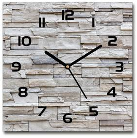 Sklenené hodiny na stenu Kamenná stena pl_zsk_30x30_f_83342706