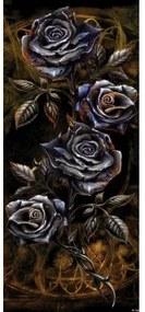 Dverová fototapeta - FT2275 - Kovové ruže – hnedé 91cm x 211cm - Vliesová fototapeta