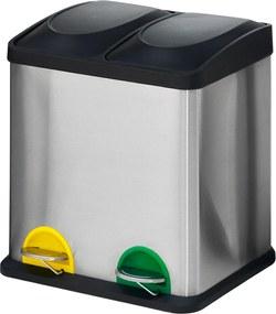 Odpadkový kôš na triedenie odpadu Addison, 30 L, nerez