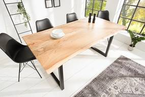 Luxusný jedálenský stôl z masívu Massive 160cm Black