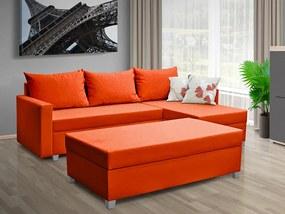 Nabytekmorava Rozkladacia sedacia súprava Essen farba korpusu: oranžová 50, farba vankúšov: oranžová 50