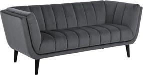 Dizajnová sedačka Raquel 184 cm tmavosivá