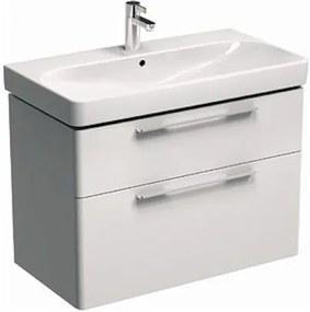 Kúpeľňová skrinka pod umývadlo KOLO Traffic 86,8x62,5x46,1 cm biela lesk 89437000