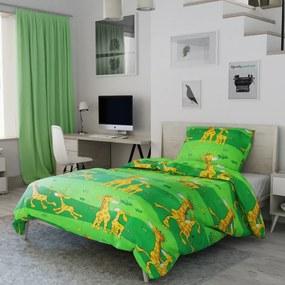 Petr Smolka Bavlnené obliečky Žirafa zelená