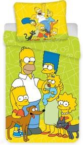Obliečky Simpsons 03 140x200 70x90 cm 100% Bavlna Jerry Fabrics