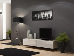 CAMA MEBLE Vigo 180 tv stolík na stenu dub sonoma / biely lesk
