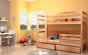 GL Poschodová posteľ Erik 2 komplet 184x80 Borovica