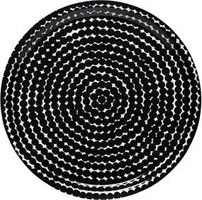 Podnos Räsymatto 31cm, čiernobiely Marimekko