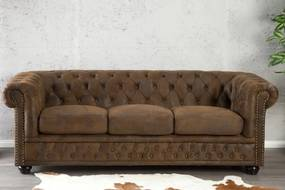 Sedačka CHESTERFIELD 3-sedačka vintage štý