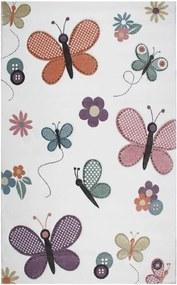 Detský koberec Garida Butterfly, 120 × 180 cm