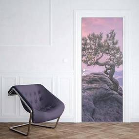 GLIX Fototapeta na dvere - Purple Sky Mountain Tree