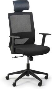 Kancelárska stolička Fox, čierna