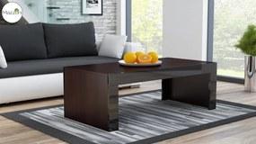 Mazzoni MILA wenge / šedý lesk, konferenční stolek