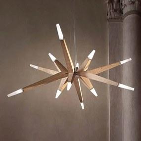 Moderný dub závesné LED svietidlo Flashwood 140 cm