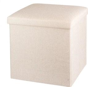 Úložný box na sedenie svetlo sivá