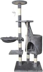 ISO Mačacie škrabadlo 118 cm, šedá, 7935