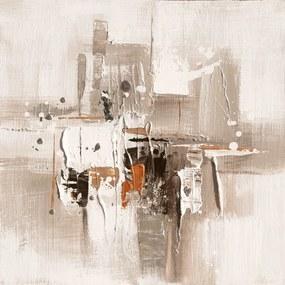Falc Ručne maľovaný obraz - Sépia 2, 30x30 cm