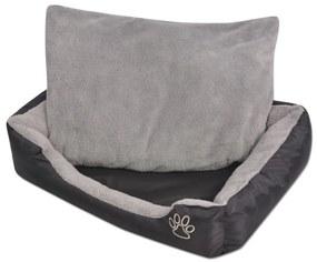 Pelech pre psov s polstrovaným vankúšom, veľkosť S, čierny