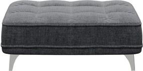 Tmavosivá podnožka devichy Chloe Glam, 106 × 84 cm