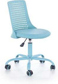 HALMAR Pure detská stolička na kolieskach modrá