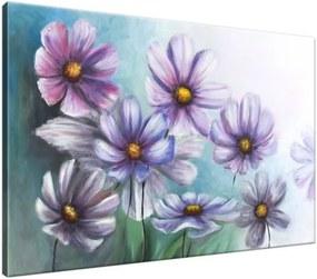 Ručne maľovaný obraz Veselé kvietky 120x80cm RM1613A_1B