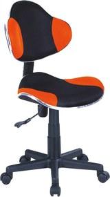 SIGNAL Q-G2 kancelárska stolička oranžová / čierna
