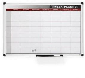 Magnetická plánovacia tabuľa Mabel, 900x600 mm, týždenná