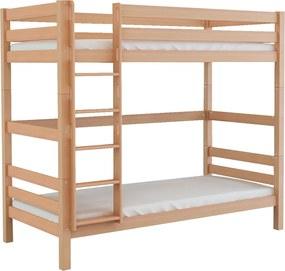 MF Poschodová posteľ Oliver 2 200x90 - buk Variant úložný box: Bez úložného boxu
